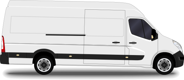 large same day courier van